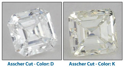 diamond color comparison photos